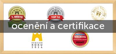 ocenění a certifikace